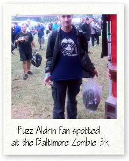Fuzz Aldrin fan at the Zombie 5k