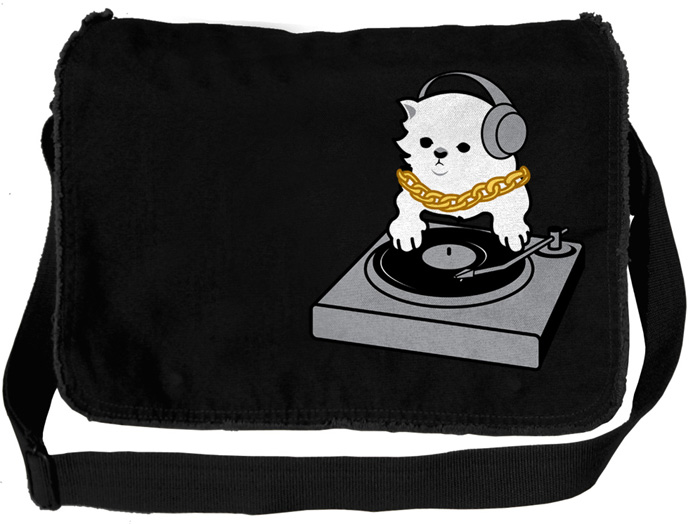 DJ Kitty Messenger Bag