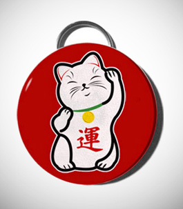 Lucky Cat Keychain Bottle Opener