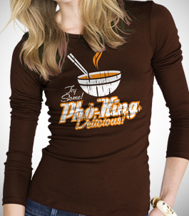 Pho King Delicious Ladies Long Sleeve T-Shirt