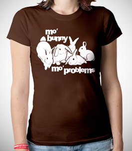 Mo Bunny Mo Problems Ladies Organic T-Shirt