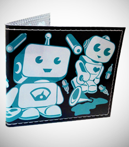 Cute Litte Retro Robots Wallet