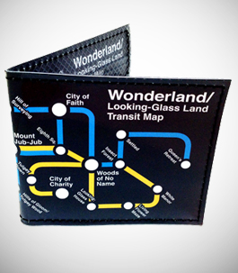 Wonderland Metro Map Wallet